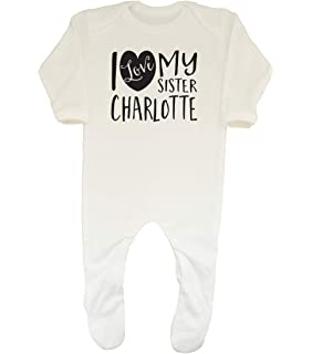 I LOVE MY BIG BROTHER PERSONALISED BABY GROW VEST CUSTOM FUNNY GIFT CUTE