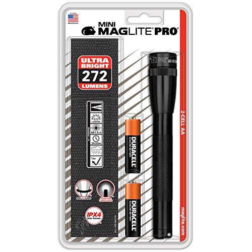 Mag-Lite Mini Pro LED Taschenlampe, 272 Lumen, ANSI Standard getest, schwarz SP2P01H