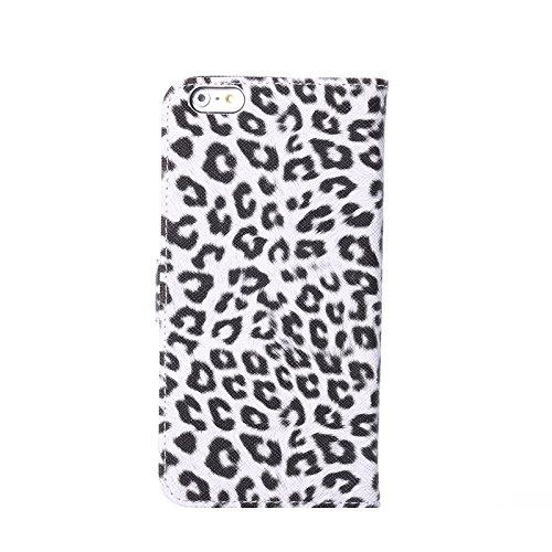 """inShang Hülle für Apple iphone 6 PLUS 5.5 inch iphone 6+ 5.5"""", Edles PU Leder Tasche Hülle Skins Etui Schutzhülle Ständer Smart Case Cover für iphone 6 PLUS Cell Phone, Handy , Zubehör + inShang Logo  Leopard black"""