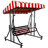 Kaushalendra Garden Zula Hammock Swing Chair 3 Seater High Strong Iron