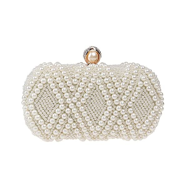 Pearl Evening Bag, Fashion, Ladies, Banquet Bag, Dress, Evening Dress, Bag, Crossbody, Portable, Wild, Small Square Bag - clutches