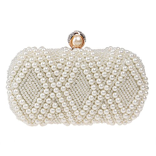 Pearl Evening Bag, Fashion, Ladies, Banquet Bag, Dress, Evening Dress, Bag, Crossbody, Portable, Wild, Small Square Bag