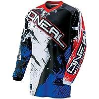 O'Neal Element Kinder MX Jersey Shocker Blau Rot Motocross Enduro Offroad, 0025S-50