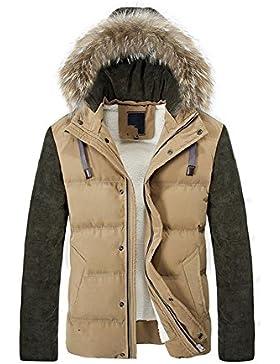 Capa de la chaqueta con capucha del invierno de los hombres de Down , khaki , xl