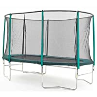 Skyhigh 10 Foot x 15 Foot Oval Trampoline with Safety Enclosure. Superior and Spacious Bounce. Doesn