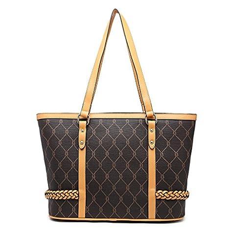 VANCOO Fashion Women Black Handbag PU Leather Tote Bag Shopping Large Capacity Shoulder Bag Large Shopper Bag (Black)