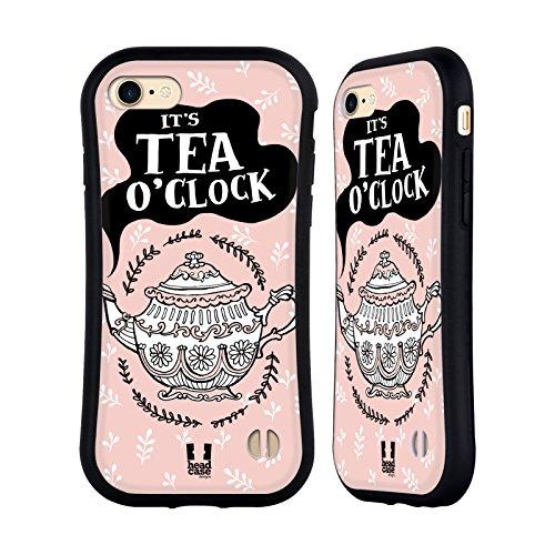 Head Case Designs Positivität Tea Time Hybrid Hülle für Apple iPhone 5 / 5s / SE Verziert