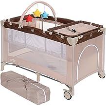 LCP Kids Kinder Reisebett faltbar 120x60 cm höherverstellbar Baby Wickelauflage