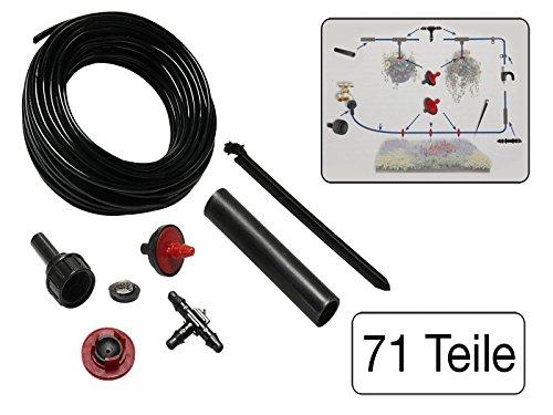 71 teiliges Set Mini-Bewässerungssystem für Garten, Balkon oder Terasse