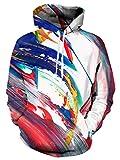 Idgreatim Jungen 3D Graffiti Printed Drawstring Taschen Hoodie Plus SAMT Medium