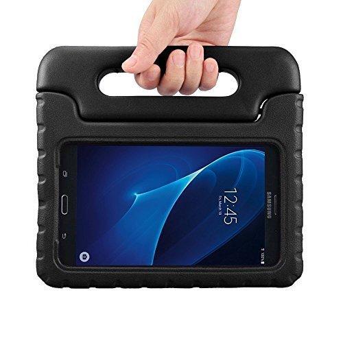 Preisvergleich Produktbild Kinder Hülle für Samsung Galaxy Tab A 7.0, CAM-ULATA EVA Stoßfest Leichtgewicht Kinderfreundlich Griff Schutzhülle Standhülle für Samsung Galaxy Tab A 7 Zoll Tablette 2016 Release, Schwarz