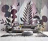 Papel Pintado Art Foto Mural Flor De La Planta Tropical Papel Tapiz Fotográfico Personalizado 3D Murales Grandes Sofá Dormitorio Moderno Pintura Mural Decoración Para El Hogar - 430x300CM(LxH)-XXXL