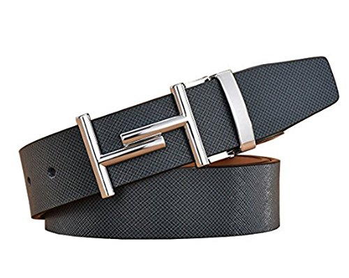 Preisvergleich Produktbild ZLZTZM Formal Belts for Men H Smooth Buckle Crocodile Pattern Adjustable