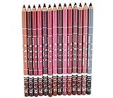 ♥Xjp 12 couleurs Doublure professionnelle lèvres Waterproof Crayon ♥