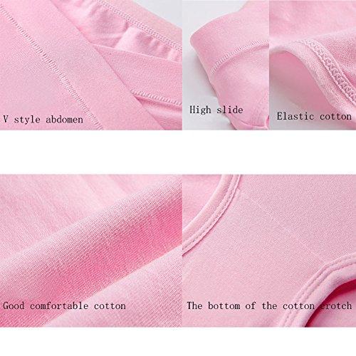LIQIAO 5er Pack Mutterschaft Niedrig-Taille Slip V-foermigen Bauch Unterstuetzung Baumwolle Unterhose Schwangersch Höschen Schwangere Unterwäsche