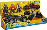Fisher Price - DC Super Friends - Imaginext - DC Super Friends Gift Set- Includes Batman, Robin & Bane Mini Figures, 3 Vehicles and Accessories!