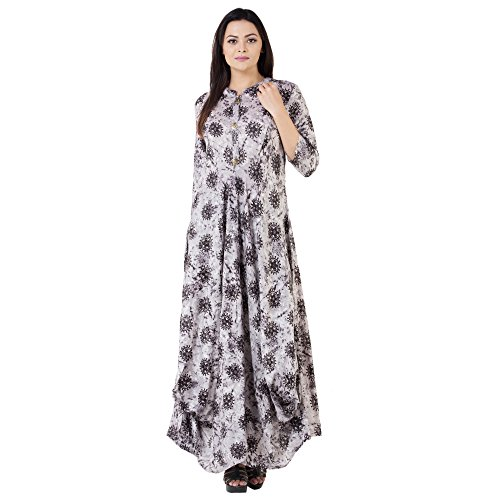 Khushal Rayon Printed Long Floor Lenght Kurta/Kurti For Women's/Girls' BEST Party Wear,...