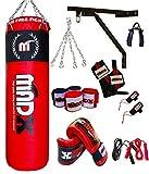 MADX Box-Set, 13-teilig, 1.22 meters gefüllt, Boxsack, Handschuhe, Kette, Halterung, Kickbag