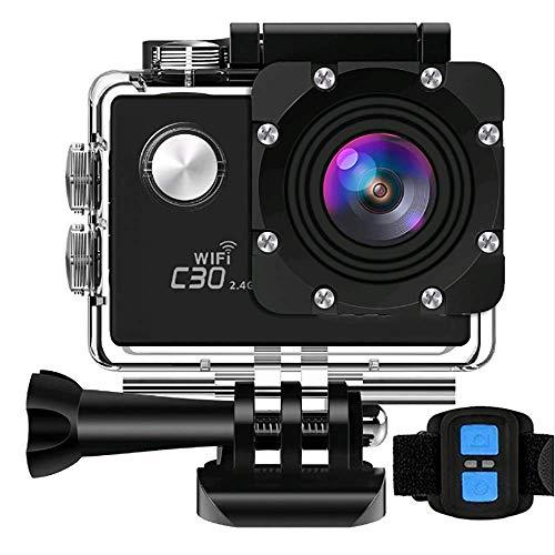 4K Action Camera wasserdichte Cams Ultra HD 16MP WiFi 60M Unterwasserkameras-Batterie-Ladegerät/Zeitraffer/Anti-Shaking / 5X Zoom / 170 Grad Weitwinkel 2 Zoll LCD-Bildschirm