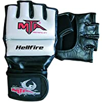 Montana Hellfire Piel–Guantes MMA Mixta Adulto, Plata