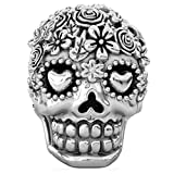Bella Fascini Dia de los muertos Tête de mort Charm perle en argent 925compatible avec bracelets de serpent Compatible (Bouquet)