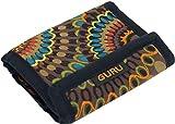 Guru-Shop Besticktes Portemonnaie Retro - Cappuccino, Herren/Damen, Braun, Baumwolle, Size:One Size, 10x12 cm, Börsen aus Stoff, Hanf & Brokat