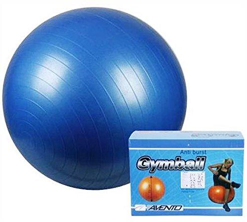 Gymnastikball 65 cm Fitnessball Sitzball Blau Ball mit Pumpe