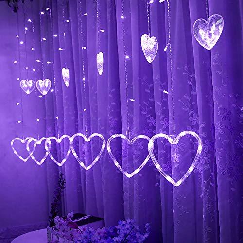 Natale luci per tende a led rovinci stelle led natale stringa per appendere le luci della tenda festa nozze giardino di natale all'aperto al coperto festa a casa a forma di cuore stringa