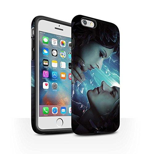 Officiel Elena Dudina Coque / Matte Robuste Antichoc Etui pour Apple iPhone 6S+/Plus / Coeur flamboyant Design / Art Amour Collection Verre brisé