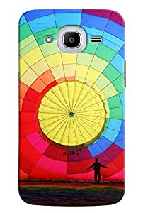 Omnam Hot Air Baloon Printed Designer Back Cover Case For Samsung Galaxy J2 2016