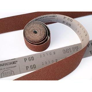 Starcke Schleifpapier-Rolle, Körnung 60,40mm x 5000mm, höchste Qualität, 5Meter, flexible Schleifpapier-Rolle