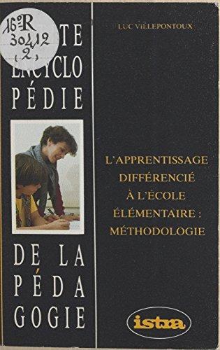L'apprentissage différencié à l'école élémentaire : méthodologie pdf ebook