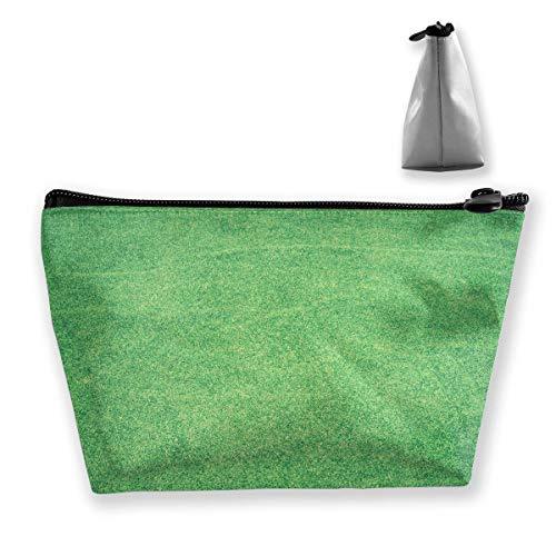 Gras Baseball Feld Rasen Textur Boden Make-up Tasche Reisetaschen Stift Bleistift Stromleitungen Aufbewahrung von Zubehör (Wiederverwendbare Rasen-taschen)