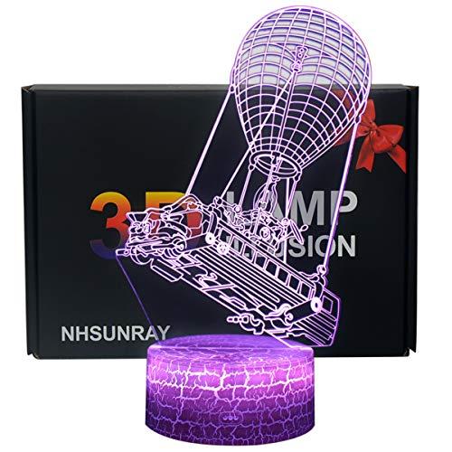 3D Lámpara de Escritorio NHSUNRAY 7 colores LED Touch lámpara de mes