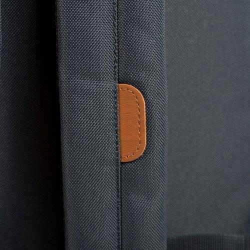 Herschel 10011-00001  Pop Quiz Backpack Rucksack, 1 Liter, Schwarz/Tan Blau(Navy/Tan Synthetic Leather Backpack)