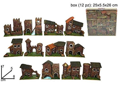 Set 12 case casette presepe idea regalo