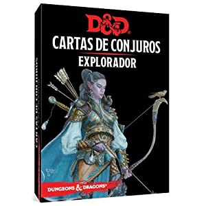 Dungeons & Dragons- Dungeons and Dragons: Explorador – Cartas de Conjuros – Castellano, Color (Edge Entertainment EEWCDD87)