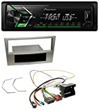 caraudio24 Pioneer MVH-S100UBG USB MP3 1DIN Aux Autoradio für Opel Zafira B Astra H Corsa D ab 2005 Satin-Stone