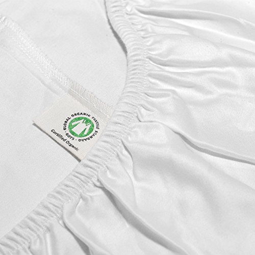 Sábana ajustable de algodón orgánico por Whisper Organics