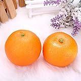 RISHIL WORLD 10pcs Artificial Foam Fruit Oranges Home Kitchen Decor Mould Teaching Props Single Item.