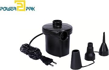 Powerpak Portable Electric Air Pump / Inflator - Quickly Inflates / Deflates Swimming Pools, Large Sofa, Pool Tubes, Mattresses etc.