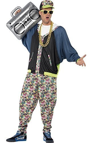 Herren 1980's 80's HIP HOP RAPPER MC Hammer Vanille Eis Fresh Prince Jahrzehnte Party Kostüm Kleid Outfit