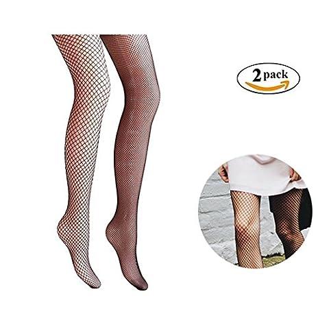 Damen Netzstrumpfhose, Canvalite 2 Paar sexy Damen Elastische Fischnetz Strümpfe schwarz für Freizeit Party (Erwachsen Netzstrumpfhose)
