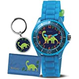 Tikkers Boys' Dinosaur Watch, Wallet and Keychain Gift Set