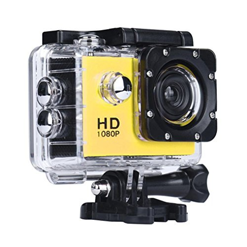 Lagfly Yellow 8 MP HD 1080P DV Sports Action Camera Waterproof up to 30 Mtr