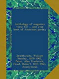 Anthology of magazine verse for ... and year book of American poetry: 1918