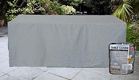 Housse pour table de jardin rectangulaire 8-10 places polyester coloris gris
