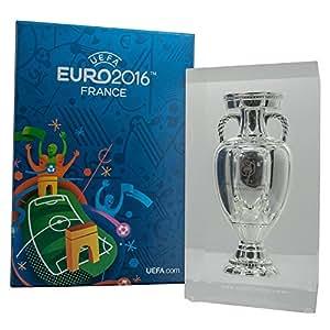 "UEFA EURO 2016 Pokal Trophy 150mm im Acryl Block ""Sonderedition "" Europameisterschaft Frankreich"