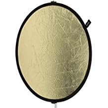 Creative Light 100854 - 95 cm Ovaler Reflektor (Gold/Weiß)