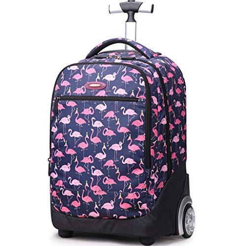 Zaino trolley sacchetto della scuola per i bambini sacchetto di scuola di rotolamento per ragazzi e ragazze borsa portatile viaggio business bagagli,e